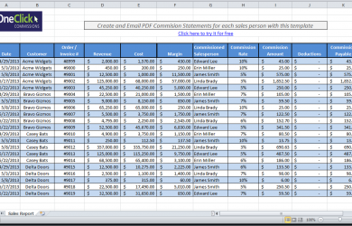 excel spreadsheet templates sales commission template fixed margin