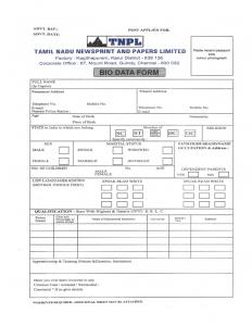 executive resume template company biodata format l