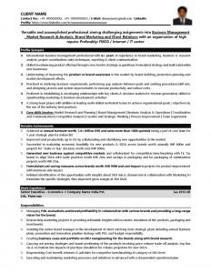 executive resume template fmcg resume sample yrs page sample pg