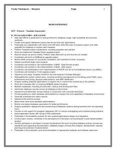 executive resume template word sr teradata dba