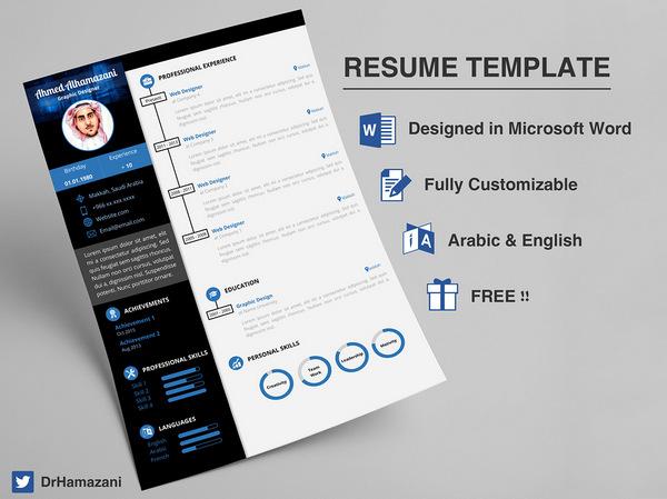 executive resume template word