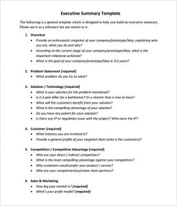 executive summary examples mit chief executive summary template sample pdf format