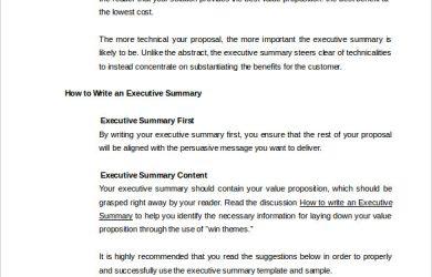executive summary sample your best executive summary ever template free sample