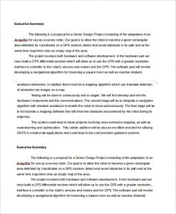 executive summary template for proposal proposal executive summary template