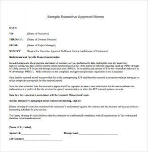 executive summary template word executive summary memorandum example