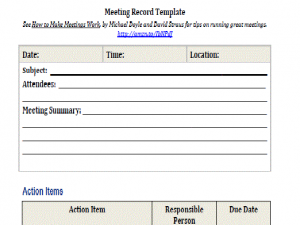 executive summary template word meeting template