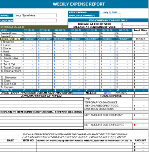 expense sheets templates weekly expense report x