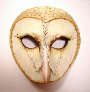 face mask template barn owl leather mask by teonova by teonova dxlv