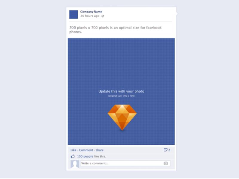 facebook post template