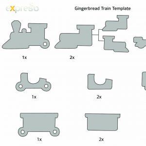 facebook template download gingerbread train template