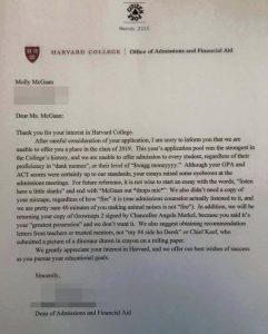 fake college acceptance letter save
