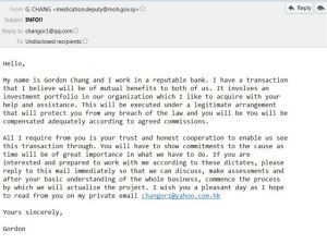fake job offer emails business offers