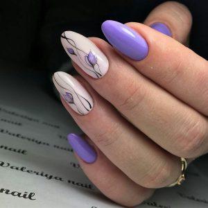 fall nails designs manikyur na ovalnye nogti