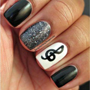 fall nails designs music nail design for short nails