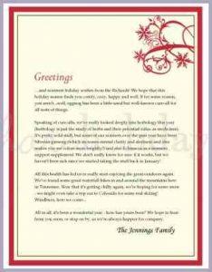 family newsletter template christmas letter examples family christmas letter examples