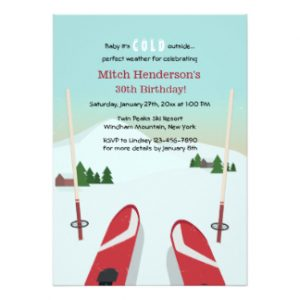 family reunion invites red skis invitation rbeafbecacfdc zkrqs