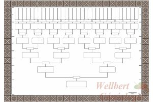 family tree blank blank family tree template generations printable empty to fill in oneself