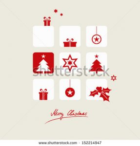 family tree sample stock vector christmas card