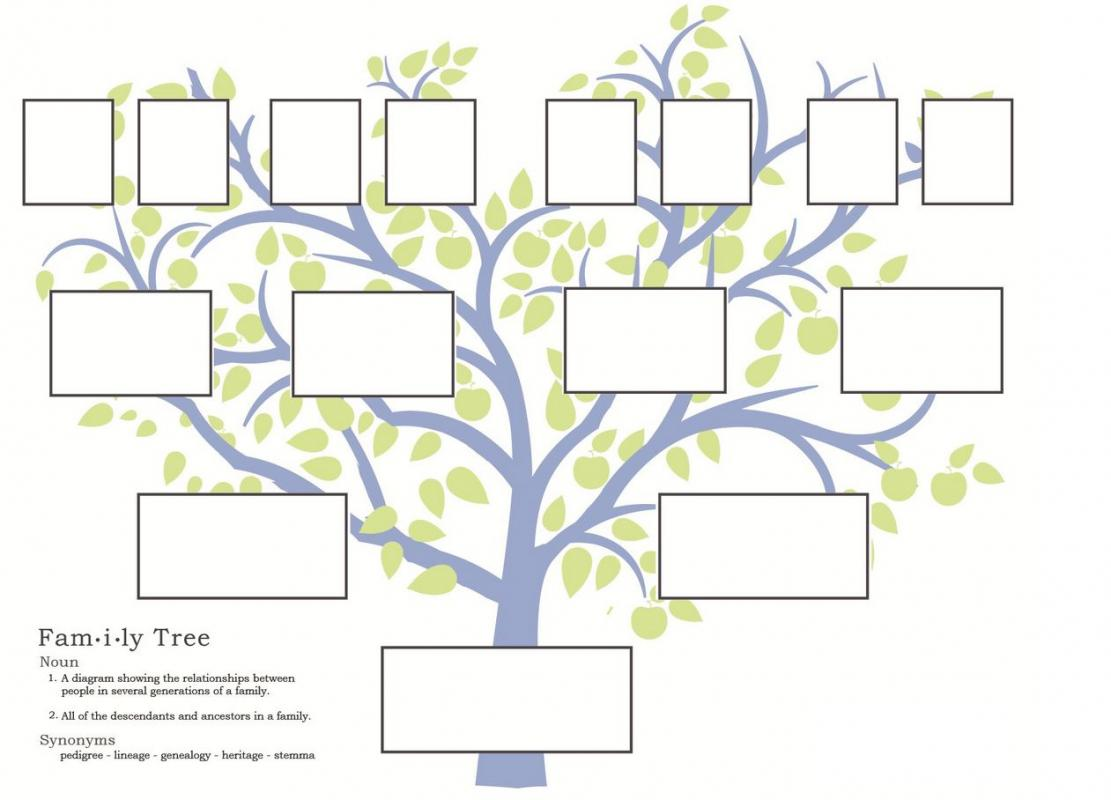 family tree template free