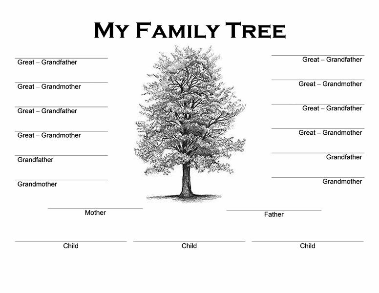 family tree template google docs