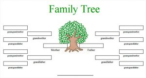 family tree template word generation family tree in color template pdf format download