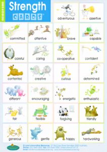 family trees for kids strength card ne stickers