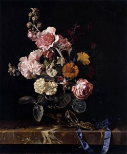 famous still life photographers willem van aelst vase of flowers with pocket watch wga