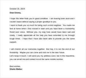 farewell letter to colleagues kind neighbor trustworthy resignation letter to coworkers good condition town going send email contact mobile number appreciate