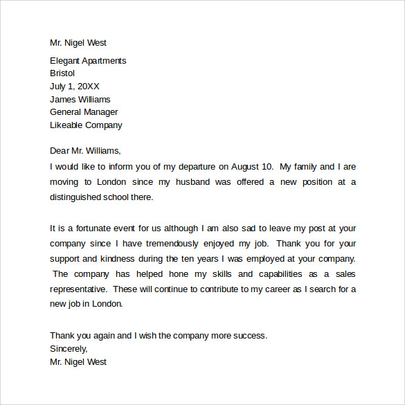 farewell letter to colleagues