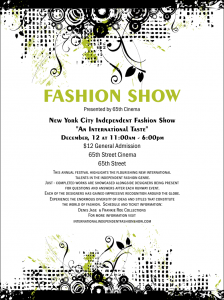 fashion show flyer fashion show print design flyer redesigned product front