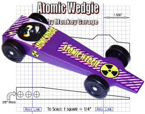 fast pinewood derby car templates header image