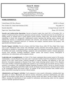 federal resume example federal