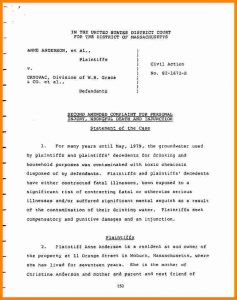 federal resume template sample answer to complaint federal court complaint andr cryovac