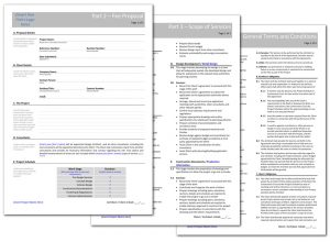 fee schedule template sample pages standard fee