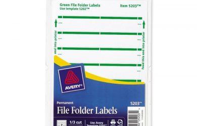 file folder labels template large