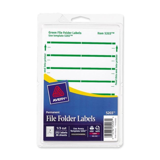 file folder labels template