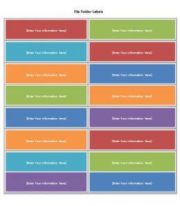 file folder labels template file folder labels
