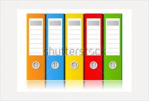 file folder labels template sample file folder label template vector illustration