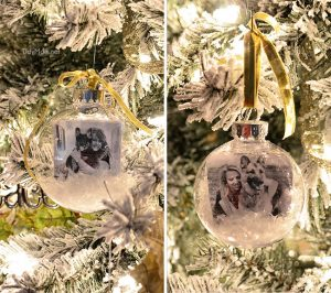 fill in family tree snowglobe photo ornament