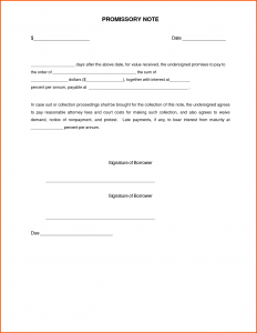 fill in the blank promissory note sample promissory note