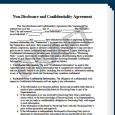 fill in the blank promissory note non disclosure and confidentiality agreement