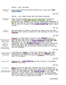 film script example shot script