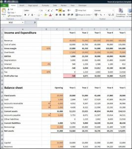 financial projections template financial projections template e