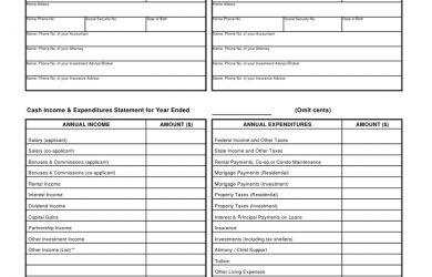 financial statement templete financial statement template