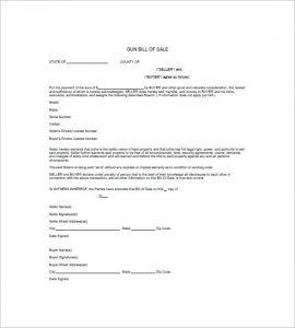 firearm bill of sale template free gun bill of sale template