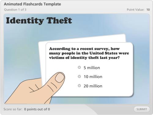 flash card template word