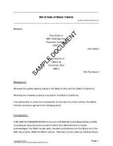 florida gun bill of sale bos sample pdf