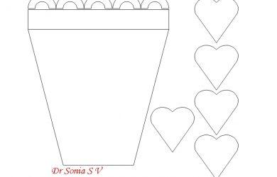 flower pot template flower pot card templates