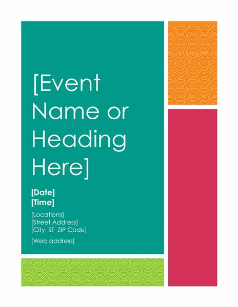 flyer templates word
