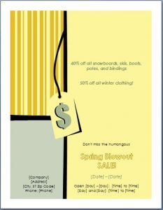 flyer templates word business sales flyer